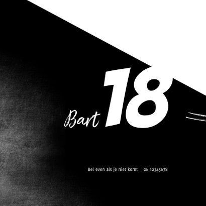 Uitnodiging 18de verjaardag met foto 2