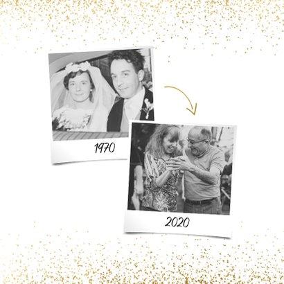 Uitnodiging 1970/2020 jubileum met confetti 2