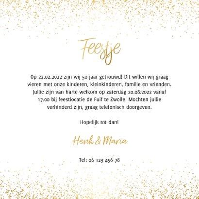Uitnodiging 1971/2021 jubileum met confetti 3