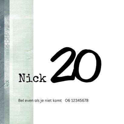 Uitnodiging 20ste verjaardag voor een man 2