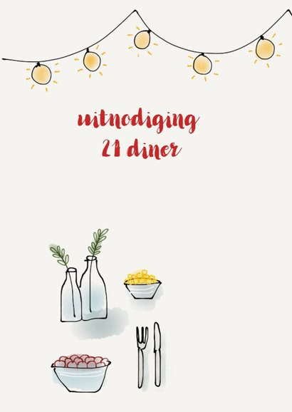 Uitnodiging 21 diner tafel 2