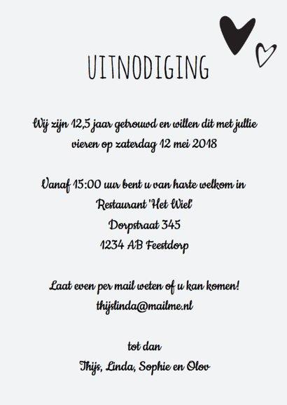 uitnodiging 25 jaar getrouwd - hout  design LO 3
