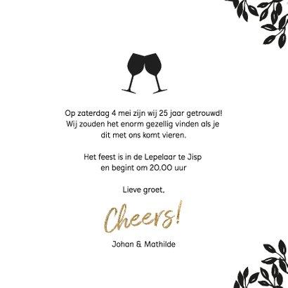 Uitnodiging 25 jaar huwelijk Cheers 3