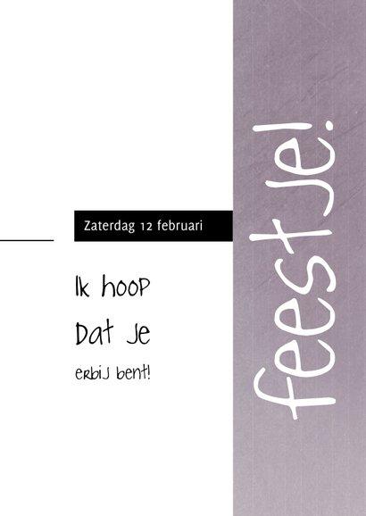 Uitnodiging, 25ste verjaardag met foto en leuke typografie 3