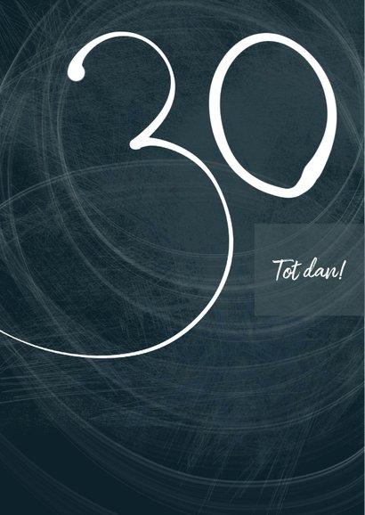 Uitnodiging 30ste verjaardag, donkerblauw met foto 2