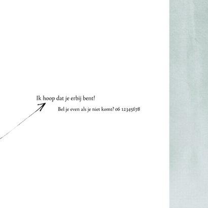 Uitnodiging 30ste verjaardag, eenvoudig en leuke typografie 3