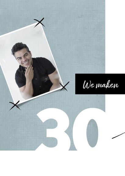 Uitnodiging 30ste verjaardag modern, speelse typografie 2