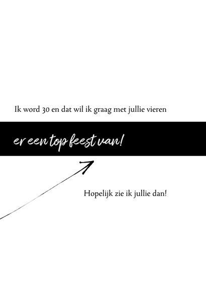Uitnodiging 30ste verjaardag modern, speelse typografie 3