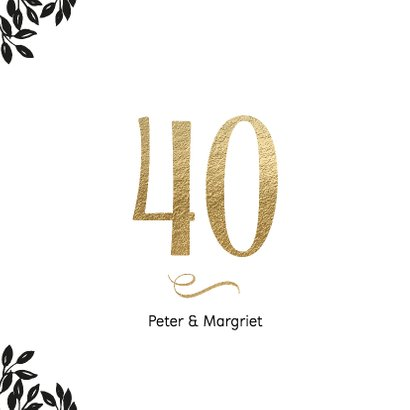 Uitnodiging 40 jaar huwelijk Cheers 2