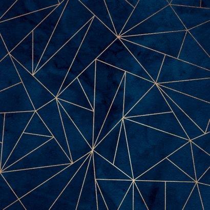 Uitnodiging 50 jaar 1969 stijlvol geometrisch goud Achterkant
