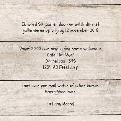 uitnodiging 50 jaar - hout print 3