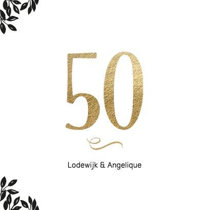 Uitnodiging 50 jaar huwelijk Cheers 2