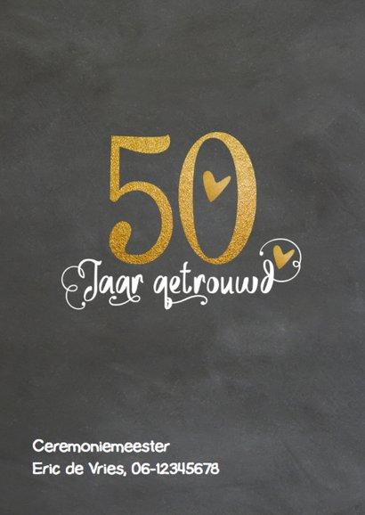 Uitnodiging 50 jaar huwelijk - LO 2