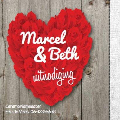 Uitnodiging 50 jaar huwelijk rozen 2