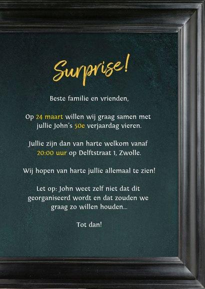 Uitnodiging 50 jaar man schilderij Rembrandt van Rijn 3