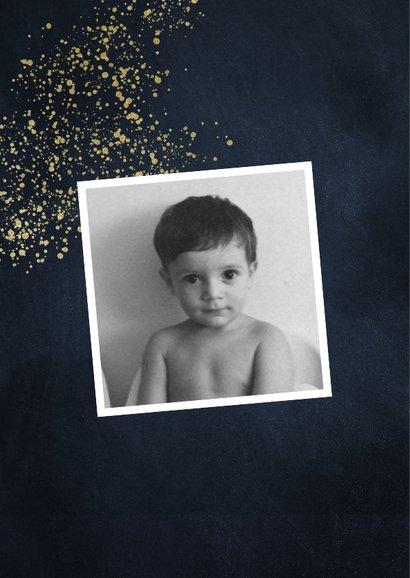 Uitnodiging 50 jaar stijlvol goudlook met foto en spetters 2