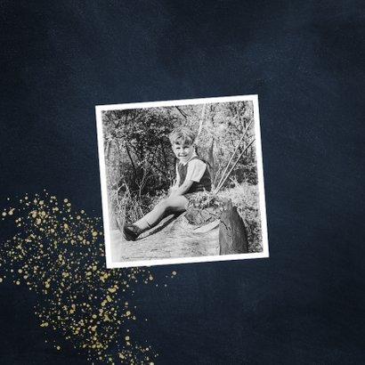 Uitnodiging 50 jaar stijlvol goudlook met spetters 2