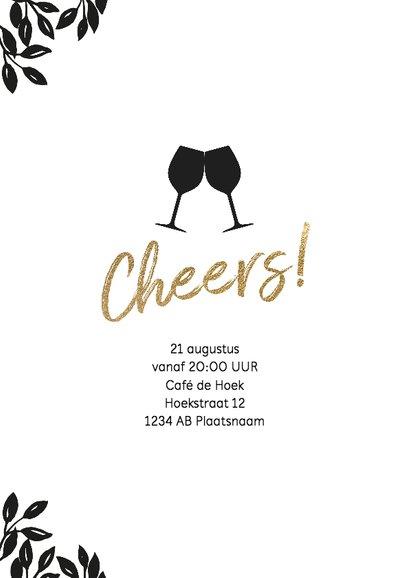 Uitnodiging 50 jaar wijnglas Cheers 2