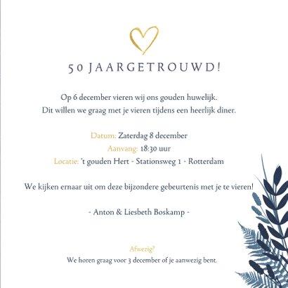 Uitnodiging 50 jarig huwelijksfeest - met 2 foto's en 1969 3