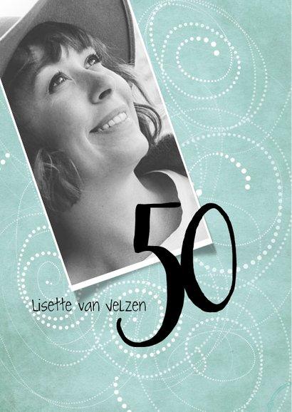 Uitnodiging 50ste verjaardag, modern en speels 2