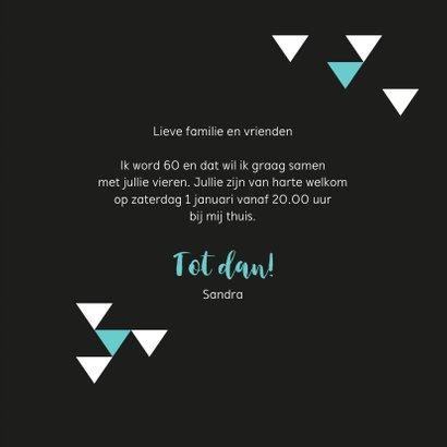 Uitnodiging 60 geometrisch met driehoekjes 3