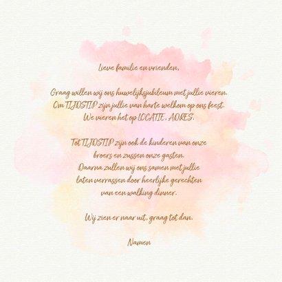 Uitnodiging 60 jaar getrouwd aquarel 3