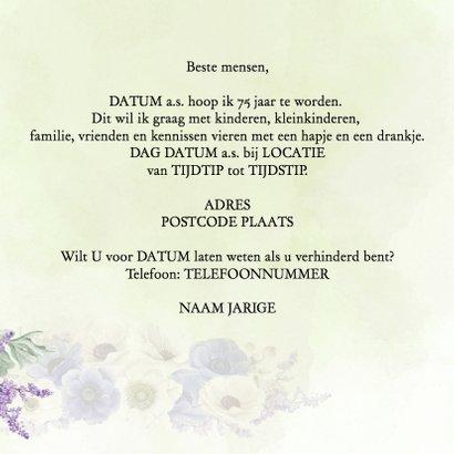 Uitnodiging 75 jaar anemonen 3