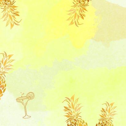 Uitnodiging ananas goudkleurig 2