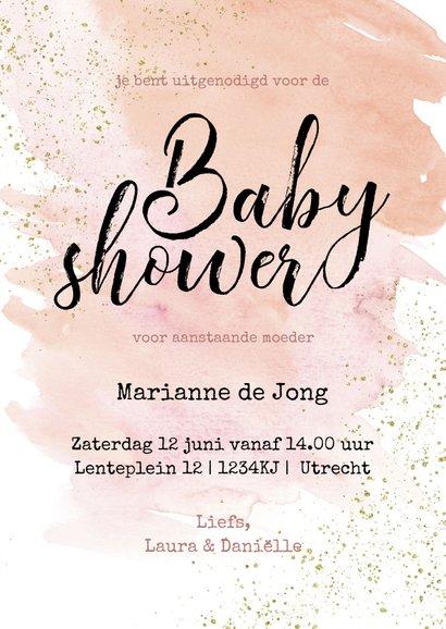 Uitnodiging Babyshower meisje zwaan zwaantjes 3