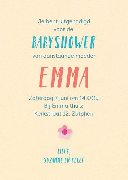 Uitnodiging babyshower met baby spulletjes 3