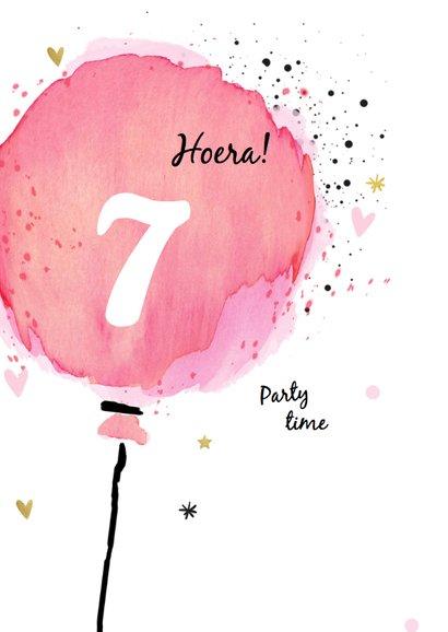 Uitnodiging ballon meisje - jarig 2