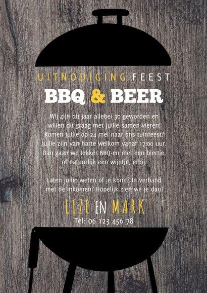 Uitnodiging BBQ & Beers samen 60 met foto 3