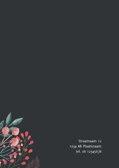 Uitnodiging bordjes met bloemen 2