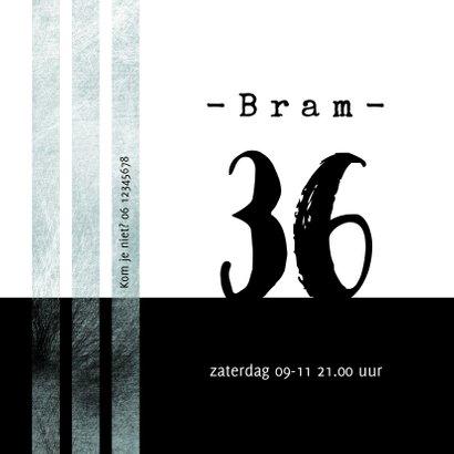 Uitnodiging borrel stoer en modern in zwartwit  2