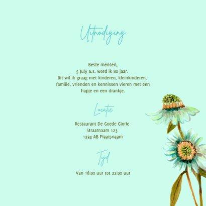 Uitnodiging botanische bloemen pracht 3