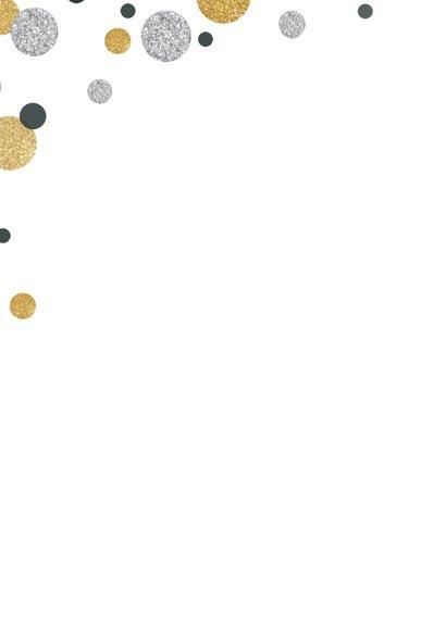 Uitnodiging cirkel confetti av 2