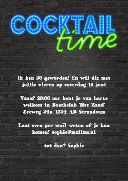 Uitnodiging cocktail party met neon  3