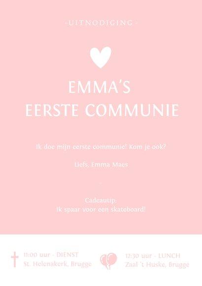 Uitnodiging communie silhouet meisje met vllinders 3