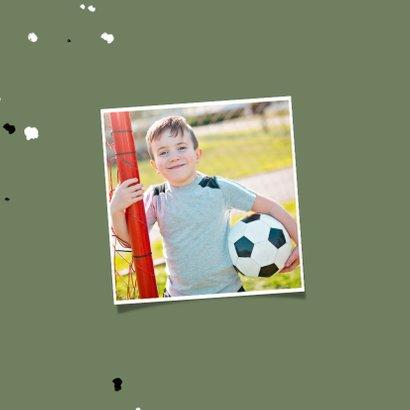 Uitnodiging communie voetbal met spetters 2