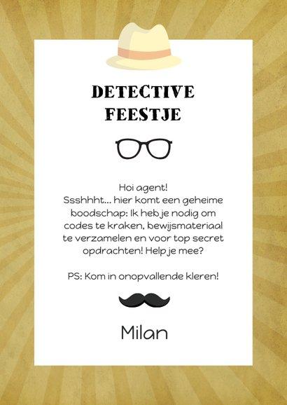 Uitnodiging detective feestje 3