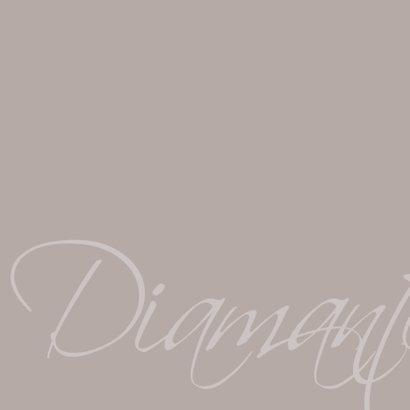 uitnodiging diamanten huwelijk 2