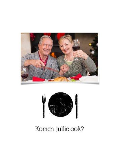 Uitnodiging diner foto bestek 2