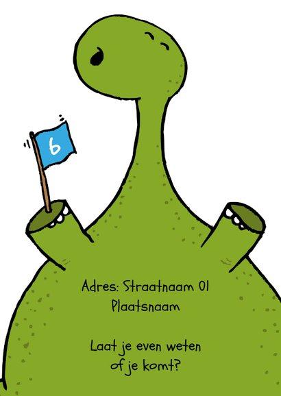 Uitnodiging Dinosaurus Kinderfeestje 3