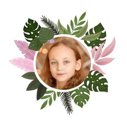 Uitnodiging eerste communie met plantjes voor een meisje 2