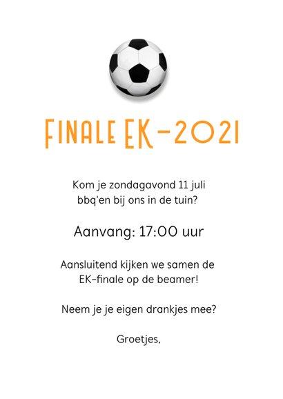 Uitnodiging EK barbecue - oranje met voetbal bbq 3