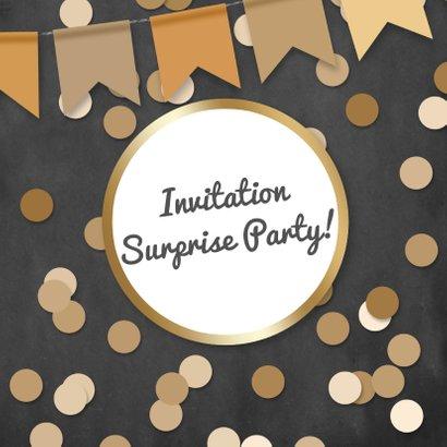Uitnodiging feest confetti en foto 2