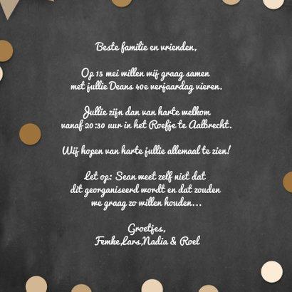 Uitnodiging feest confetti en foto 3