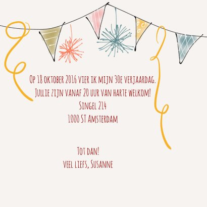 Uitnodiging Feest Fleurig 3