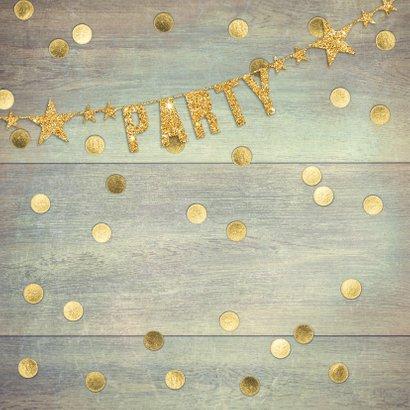 uitnodiging feest gouden confetti 2