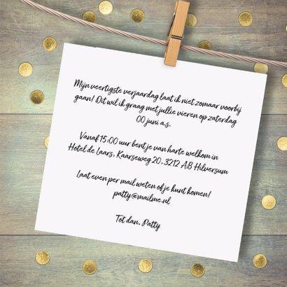 uitnodiging feest gouden confetti 3